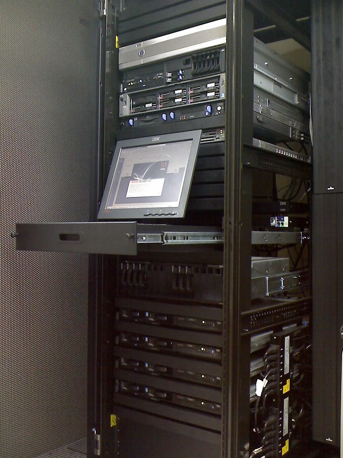A typical server rack
