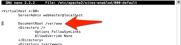 The Document Root Directive in an Apache configuration file