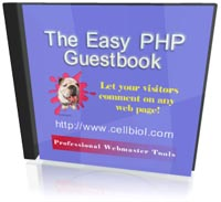 CD cover image for free php guestbook script